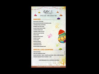 Menu post Design ui ux logo branding typography design print vector illustration graphic design
