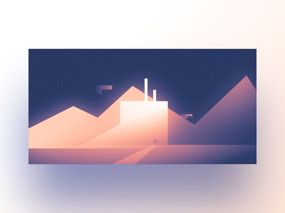▲ Lets Make Shapes ▲ | 07 | White Building letsmakeshapes gradient blur glow design minimal space graphic shapes affinity design