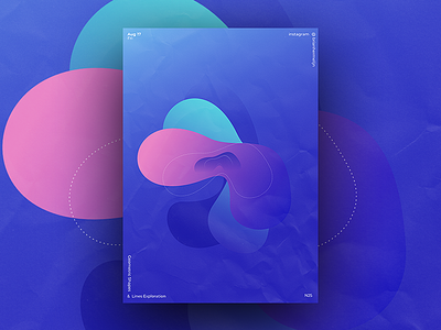 Basic Geometric Shapes & Line Exploration - 25 geometric light affinity designer abstract graphics glow shapes shape gradient illustration design visual