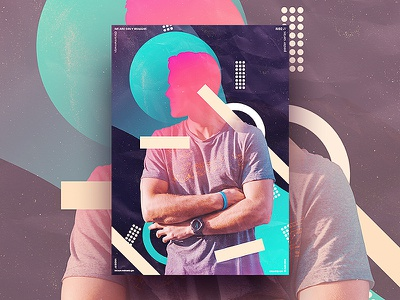 We Are Only Humans // 02 photoshop typography geometric illustration shapes shape glow gradient graphics design visual