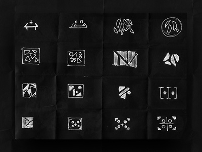 Thirty Logos Space - Concept Sketch behind the scenes process sketch logo logo sketch sketching logo design process logo design sketches