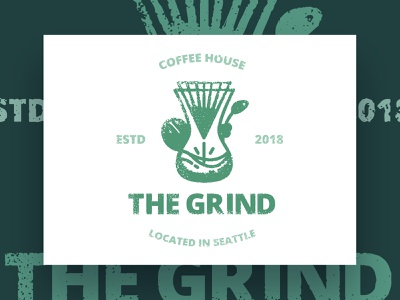 Thirty Logos : The Grind - Final Design coffee graphic design branding design logo design branding visual