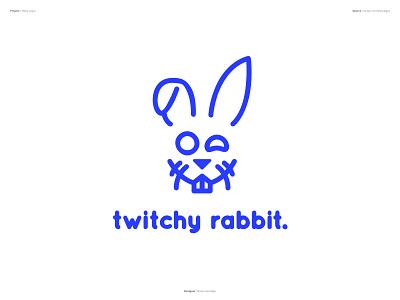 Thirty Logos : Twitchy Rabbit - Design visual logo shape design graphics affinity designer