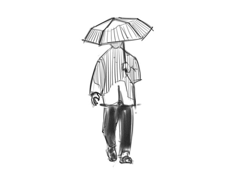 umbrella man sketch by brianhermelijn dribbble dribbble