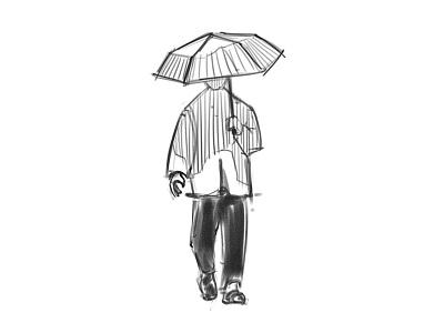 Umbrella Man - Sketch behind the scenes processes sketching paintstorm studio drawing challenge drawing digital drawing process sketch