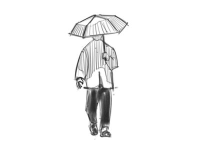 Umbrella Man - Sketch