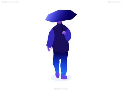 Umbrella Man - Vector