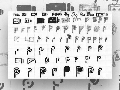 Thirty Logos : Ping - Concept Sketch branding practice logo design sketch logo design challenge process sketch drawings behind the scenes sketch logo design process logo design logo