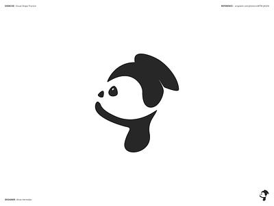 Visual Shape Exercise Dog 01 minimal simple process sketching sketch dog shape graphics design affinity designer
