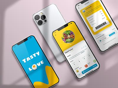 Food App - Payment design ux graphic design 3d logo ui