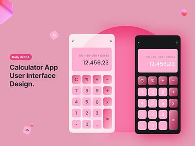 Caculator App - #DailyUi004 logo illustration design 3d ux ui