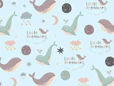 Branding Pattern for Little Dreamers vector illustration design branding