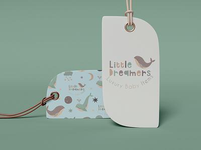 Branded cloth tag vector illustration design branding