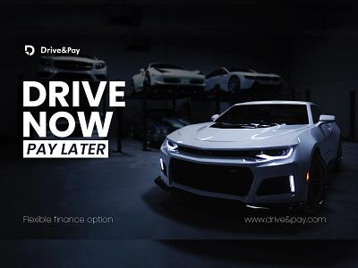 Drive&Pay | Branding | Car Rental Services automobile social media content marketing content logo design brand identity branding