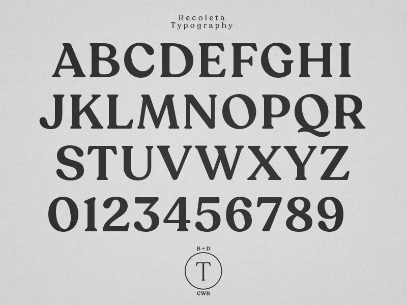 Turdus B+D Typography recoleta turdus typography font