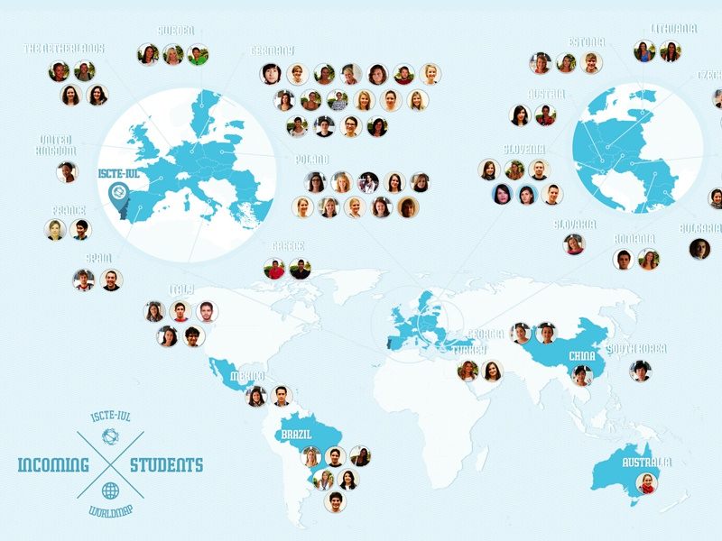 Incoming students worldmap yearbook worldmap lisbon erasmus international students