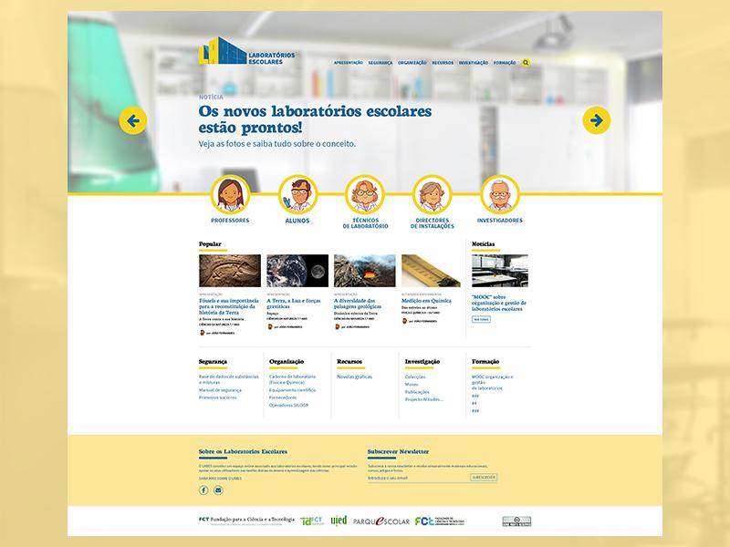 Laboratórios Escolares redesign lab education redesign homepage