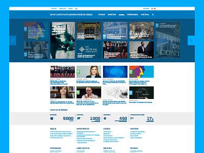 ISCTE-IUL university website redesign redesign university homepage