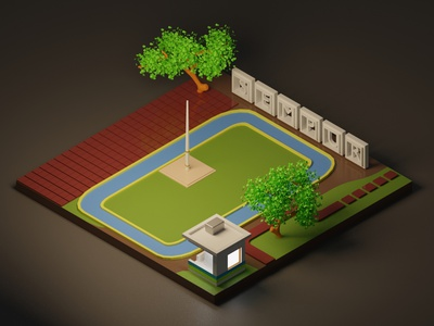 Sempur bogor indonesia jakarta illustration sempur design isometric 3d illustration 3d modeling 3d