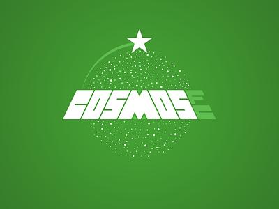 CosmosFC logo branding vector typography logotype soccer logo
