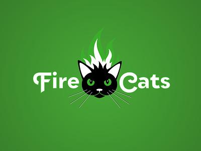 FireCats logo illustration vector typography soccer branding logo