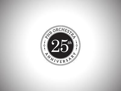Pacific Northwest Ballet Orchestra 25th Anniversary Logo orchestra theater dance ballet logotype logo branding