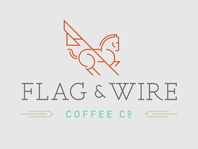 Logo Created For Flag Wire Coffee Company An Uncommon