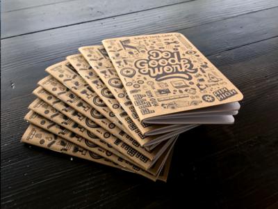 Anniversary Notebook one-color marketing dogoodwork pinball kraft notebook sketch book anniversary