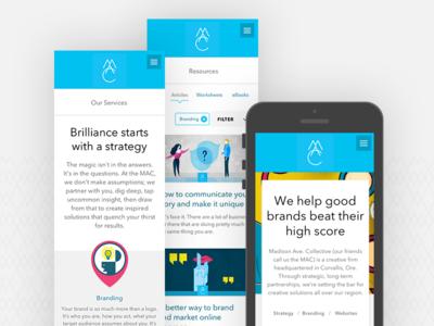 MAC Website — Mobile mobile screen mobile design ui design ui mobile website