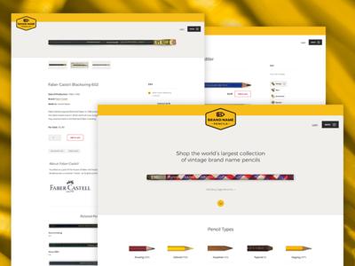 Brand Name Pencils Desktop uidesign website web design pencil pencils ui desktop