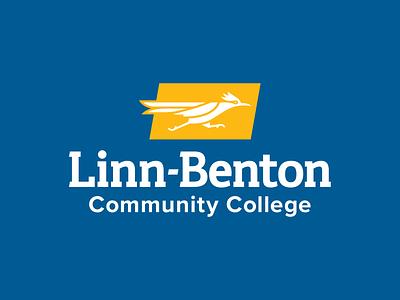 Linn-Benton Community College Logo logo design bird logo icon roadrunner college community college logo