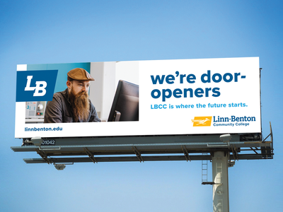 LBCC billboard design marketing community college college outdoor advertising billboard design billboard branding