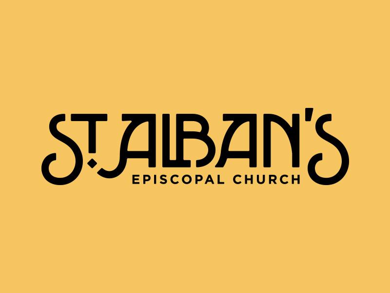 St. Alban's st. albans type typography logo episcopal church