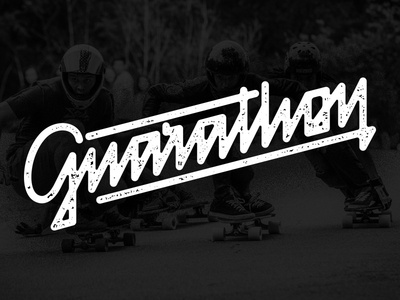 Gnarathon gnarathon typography type script texture vector longboarding logo