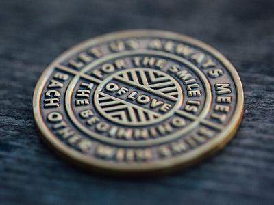 Anzollitto Monogram Coin 2 chevron badge typography coin monogram anzollitto