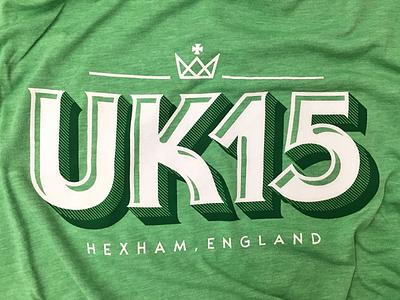 UK15 t shirt shirt lettering typography crown uk15 uk