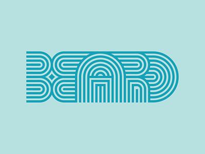 Beard stripes beard lettering typography