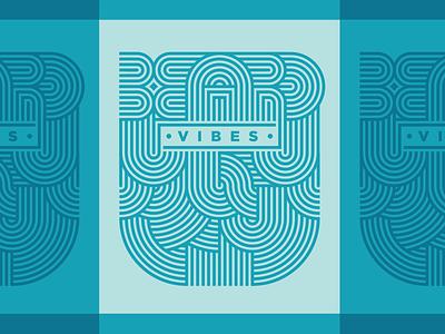 Full Beard typography lettering stripes illustration vibes beard