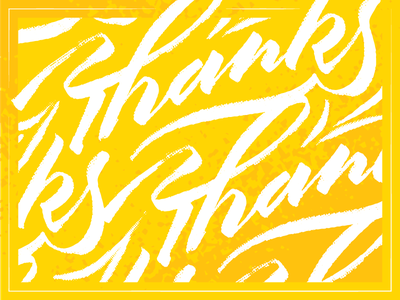 Thanks ligature typography script lettering thank you thanks
