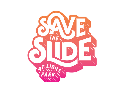 Save the Slide gradient dimensional shadow lettering typography shadow slide save