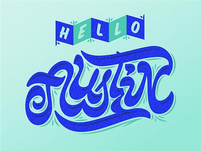 Hello Austin ligatures hello austin script hand lettering lettering typography
