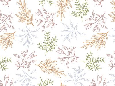 Mixed Greens Studio Botanical Illustration vector design illustrator cc pastel botanical art rosemary licorice sage surface design surface pattern branding botanical illustration