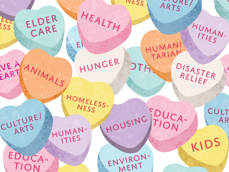 Candy Heart Causes texture photoshop illustrator illustration love sugar pastel volunteering causes sweethearts candy hearts valentines