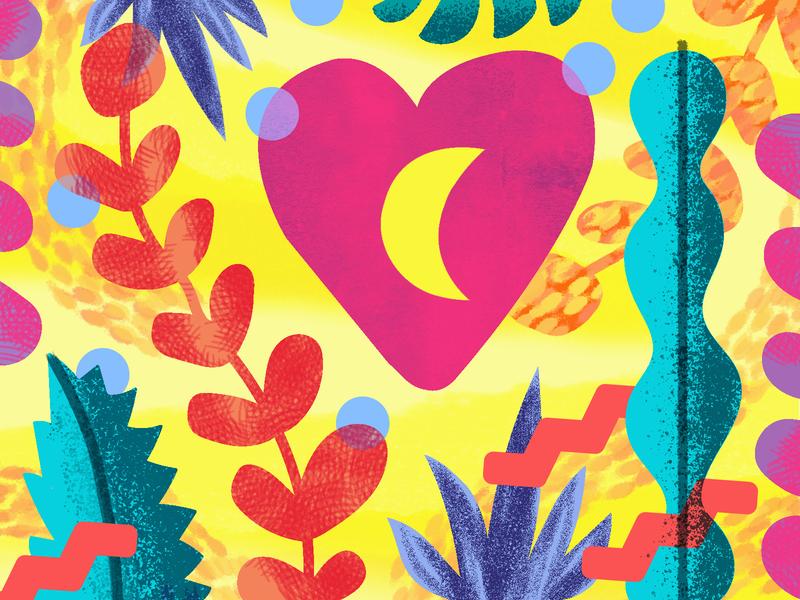 Tropical Plants summer colorful tropics texture fun confetti shapes succulents plants cactus bright illustrator illustration vector tropical