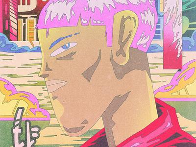 profile portrait composition composition character design dribbble design color shapes character illustration