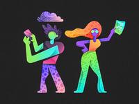 Neon characters 1