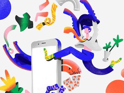 clothes app shapes character design bright colors ui dribbble design web gradients character clothes color illustration