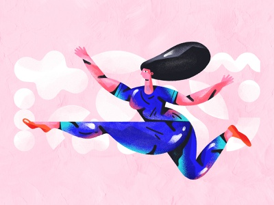 Jump! flat experimentation bright colors dribbble abstract web composition design gradients character design shapes color character illustration