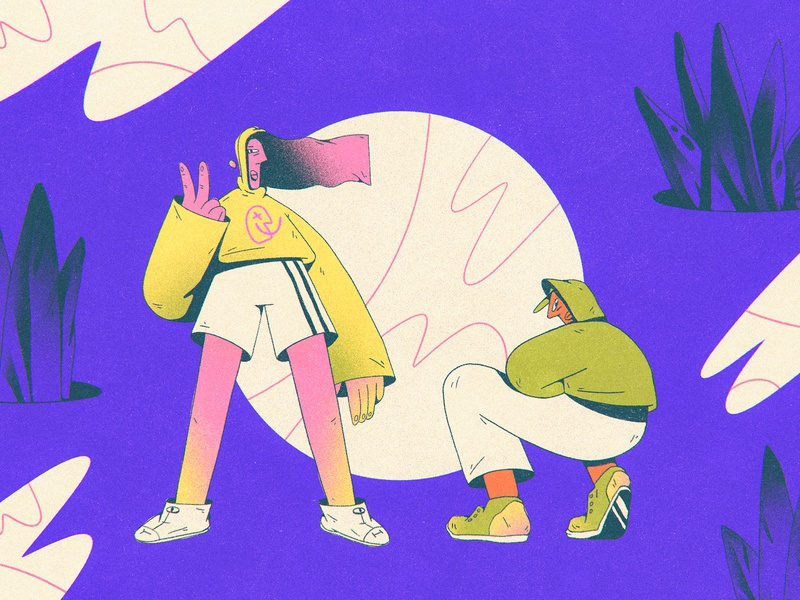 the Kids experimentation abstract composition dribbble design character design shapes color character illustration