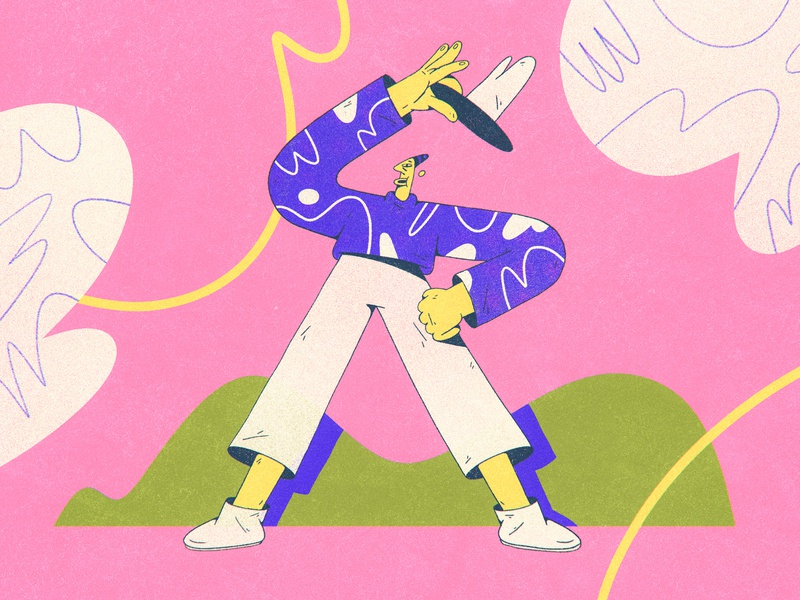 Howdy! experimentation abstract composition dribbble design character design shapes color character illustration